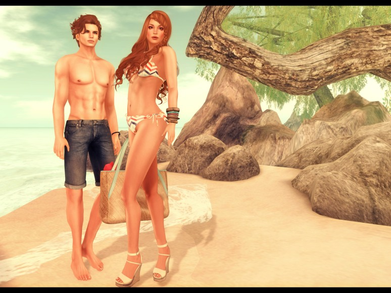 beach flowey poses